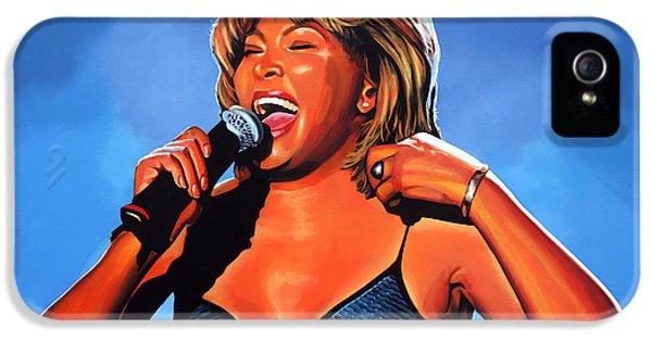 Tina Turner Queen Of Rock IPhone 5 / 5s Case by Paul Meijering