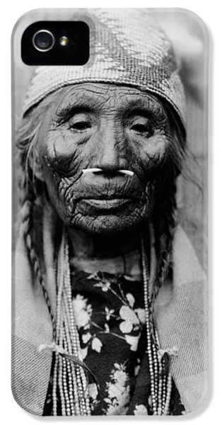 Tlakluit Indian Woman Circa 1910 IPhone 5 Case by Aged Pixel
