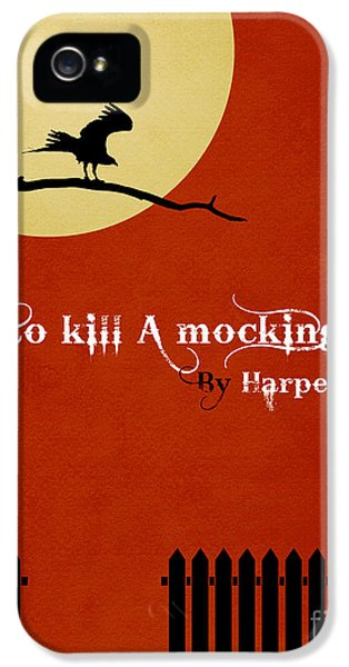 Mockingbird iPhone 5 Case - To Kill A Mockingbird Book Cover Movie Poster Art 1 by Nishanth Gopinathan