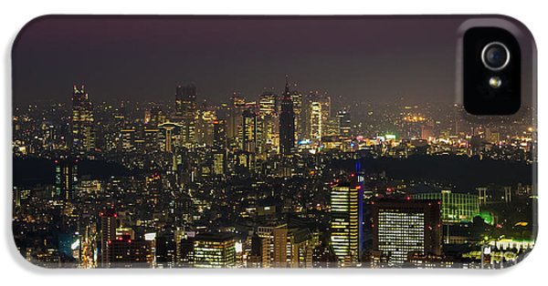 Tokyo City Skyline IPhone 5 / 5s Case by Fototrav Print