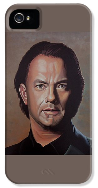 Tom Hanks IPhone 5 Case by Paul Meijering