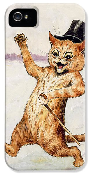Top Cat IPhone 5 Case by Louis Wain