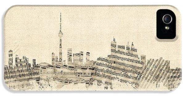Toronto Canada Skyline Sheet Music Cityscape IPhone 5 Case