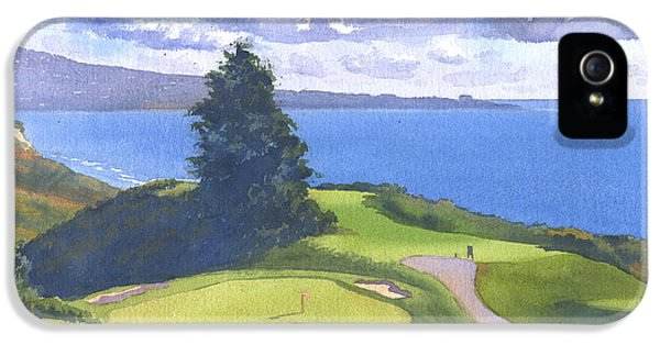 Torrey Pines Golf Course North Course Hole #6 IPhone 5 Case by Mary Helmreich