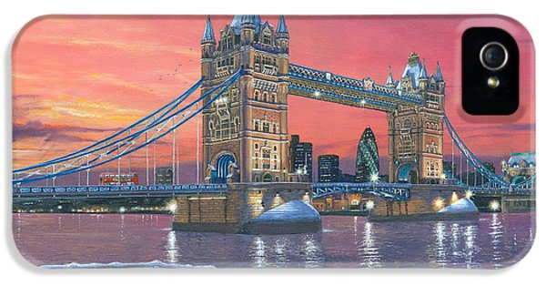 Tower Bridge After The Snow IPhone 5 Case by Richard Harpum