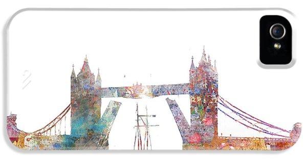 Tower Bridge Colorsplash IPhone 5 / 5s Case by Aimee Stewart