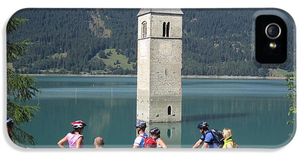 Tower In The Lake IPhone 5 Case by Travel Pics