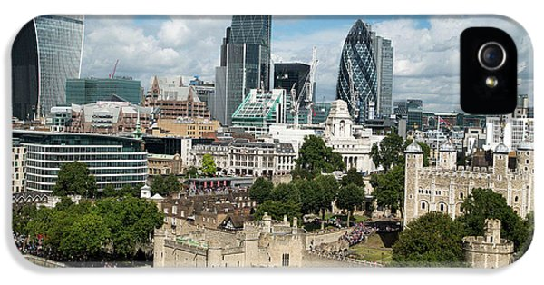 Tower Of London And City Skyscrapers IPhone 5 Case by Mark Thomas