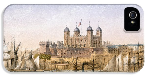 Tower Of London, 1862 IPhone 5 Case by Achille-Louis Martinet