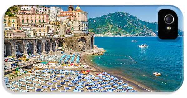 Town Of Atrani IPhone 5 Case by JR Photography