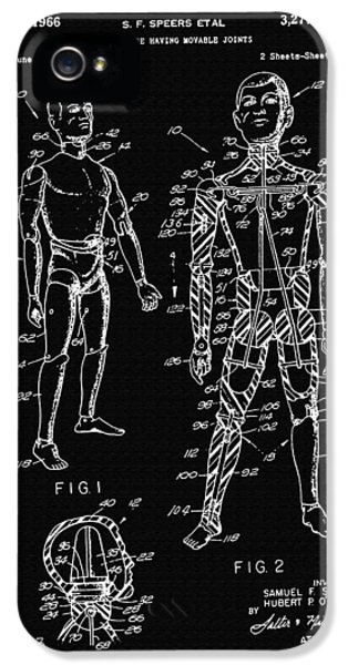 Toy Figure Having Movable Joints Support Patent Drawing From 1966 2 IPhone 5 Case