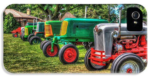Oliver Tractor iPhone 5 Case - Tractor Line by Ray Congrove