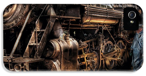 Train - Engine -  Now Boarding IPhone 5 Case by Mike Savad
