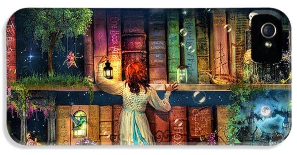 Fairytale Treasure Hunt Book Shelf Variant 2 IPhone 5 Case by Aimee Stewart