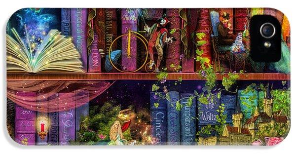 Fairytake Treasure Hunt Book Shelf Variant 4 IPhone 5 Case by Aimee Stewart