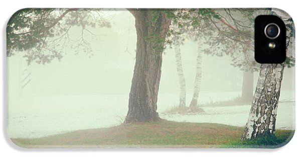 IPhone 5 Case featuring the photograph Trees In Fog by Silvia Ganora