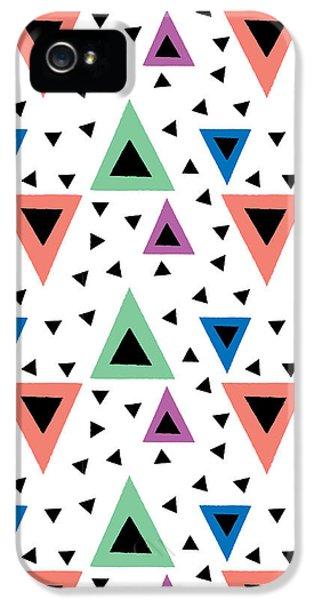 Triangular Dance Repeat Print IPhone 5 Case by Susan Claire