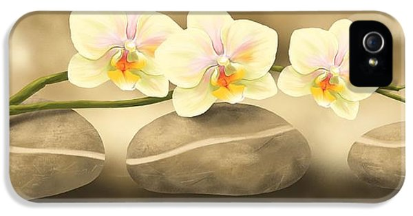 Orchid iPhone 5 Case - Trilogy by Veronica Minozzi