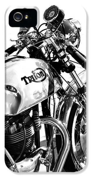 Triton Motorcycle IPhone 5 Case by Tim Gainey