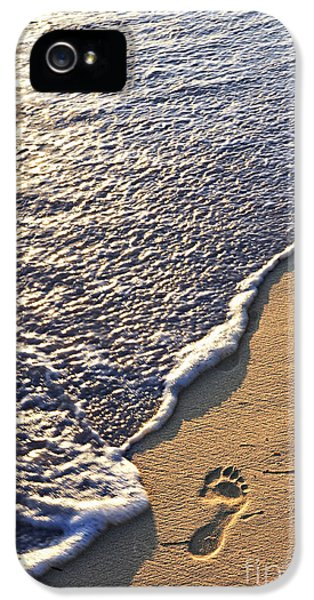 Tropical Beach With Footprints IPhone 5 Case