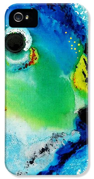 Parrot iPhone 5 Case - Tropical Fish 2 - Abstract Art By Sharon Cummings by Sharon Cummings