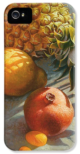 Tropical Fruit IPhone 5 Case by Mia Tavonatti