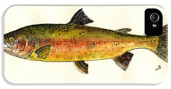 Trout Fish IPhone 5 Case by Juan  Bosco