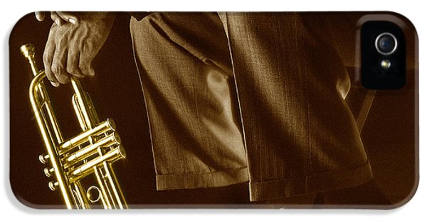 Trumpet 2 IPhone 5 Case by Tony Cordoza