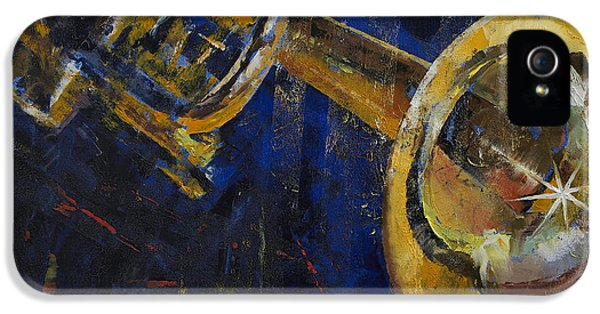 Trumpet iPhone 5 Case - Trumpet by Michael Creese