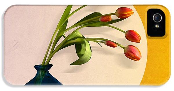 Tulips 3 IPhone 5 Case by Mark Ashkenazi