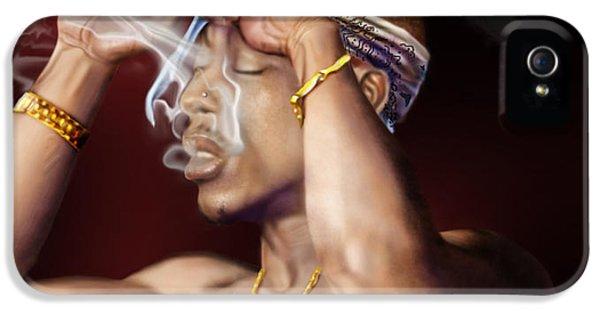 Tupac - Burning Lights Series  IPhone 5 Case