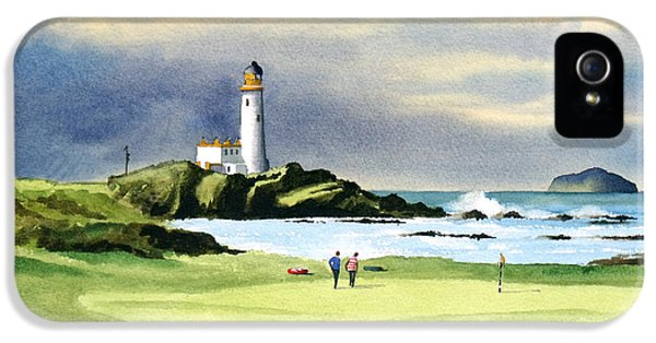 Turnberry Golf Course Scotland 10th Green IPhone 5 Case by Bill Holkham