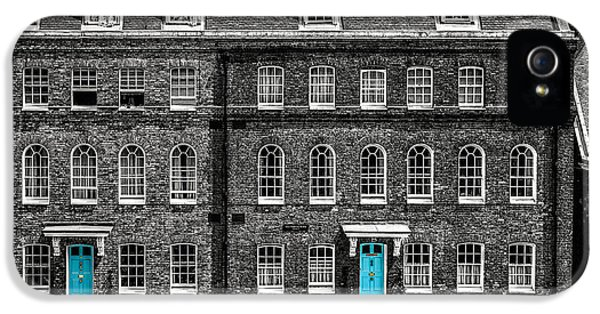Turquoise Doors At Tower Of London's Old Hospital Block IPhone 5 Case by James Udall