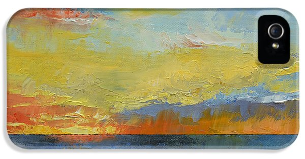 Turquoise Blue Sunset IPhone 5 Case by Michael Creese