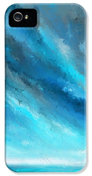 Turquoise Memories - Turquoise Abstract Art IPhone 5 Case by Lourry Legarde