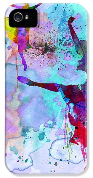 Two Ballerinas Watercolor 4 IPhone 5 Case by Naxart Studio