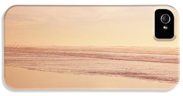 Two Children Playing On The Beach, San IPhone 5 Case by Panoramic Images
