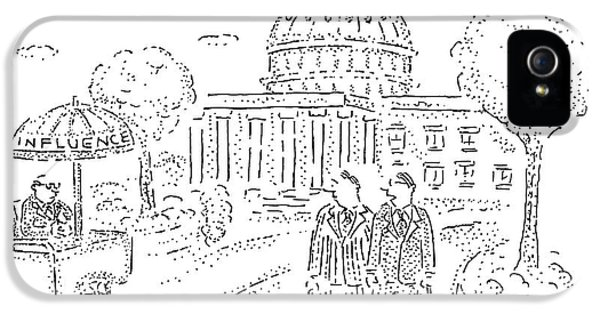 Two Men Speak In Front Of The Capitol And Look IPhone 5 Case
