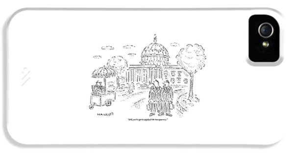 Two Men Speak In Front Of The Capitol And Look IPhone 5 Case by Robert Mankoff