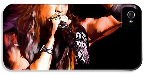 Steven Tyler iPhone 5 Case -  Steven Tyler  Tyler II by Iconic Images Art Gallery David Pucciarelli