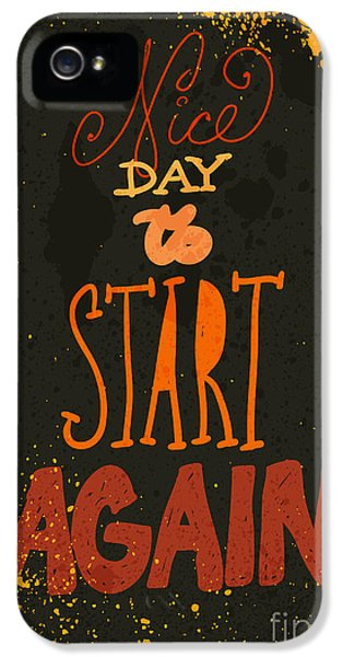 Damage iPhone 5 Case - Typography Vector Illustration With by Rayyy
