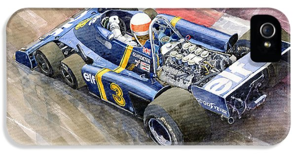 Elf iPhone 5 Case - Tyrrell Ford Elf P34 F1 1976 Monaco Gp Jody Scheckter by Yuriy Shevchuk