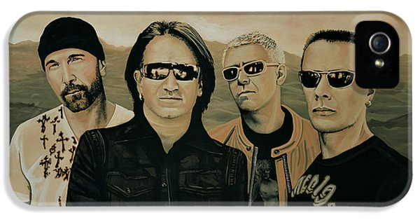 U2 Silver And Gold IPhone 5 Case
