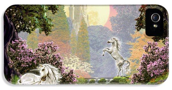 Unicorn New Born IPhone 5 Case by Garry Walton
