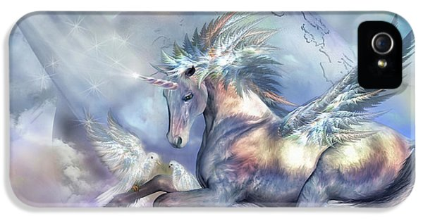 Unicorn Of Peace IPhone 5 / 5s Case by Carol Cavalaris