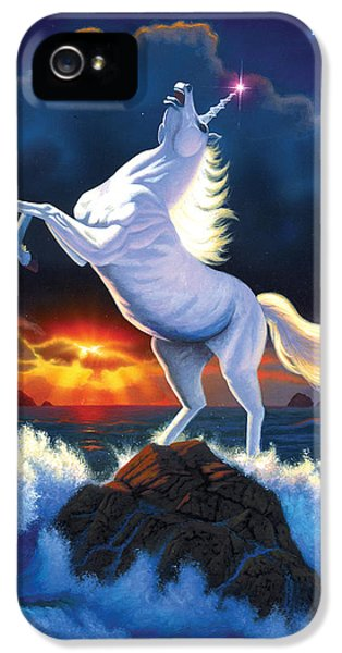 Unicorn Raging Sea IPhone 5 Case