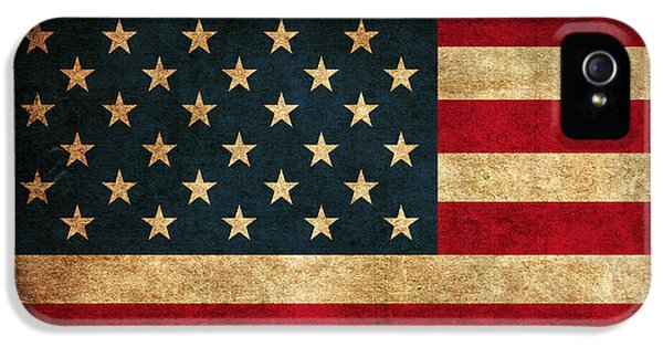 United States American Usa Flag Vintage Distressed Finish On Worn Canvas IPhone 5 Case