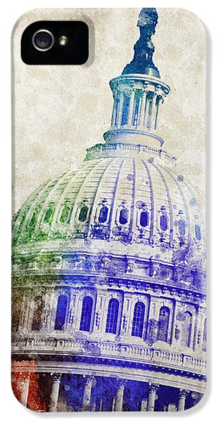 United States Capitol Dome IPhone 5 Case by Aged Pixel