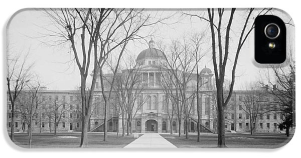University Hall, University Of Michigan, C.1905 Bw Photo IPhone 5 Case