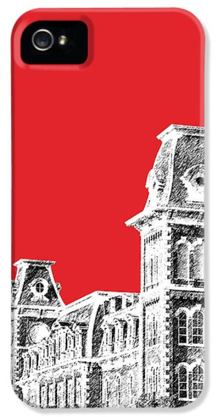 University Of Arkansas - Red IPhone 5 / 5s Case by DB Artist